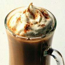 coffee with whipped cream