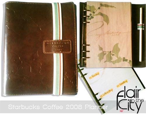 starbucks 2008 planner