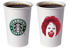 compare mcdonaldss and starbucks Starbucks competitors: to inspire and nurture the human spirit-one person, one cup and one neighborhood at a time starbucks' official mission statement.