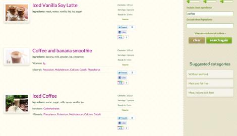 Advanced Search Results - Coffee