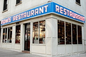 The Monk's coffee shop on Seinfeld