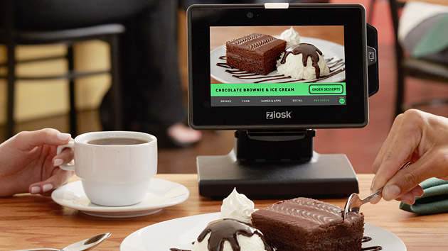 tablet used in restaurant